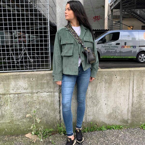 Anine Bing Fløjlsjakke Green